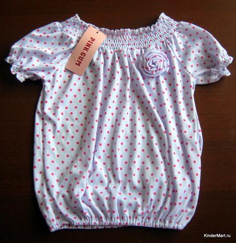 Блузка летняя трикотажная на девочку PINK GUM Франция
