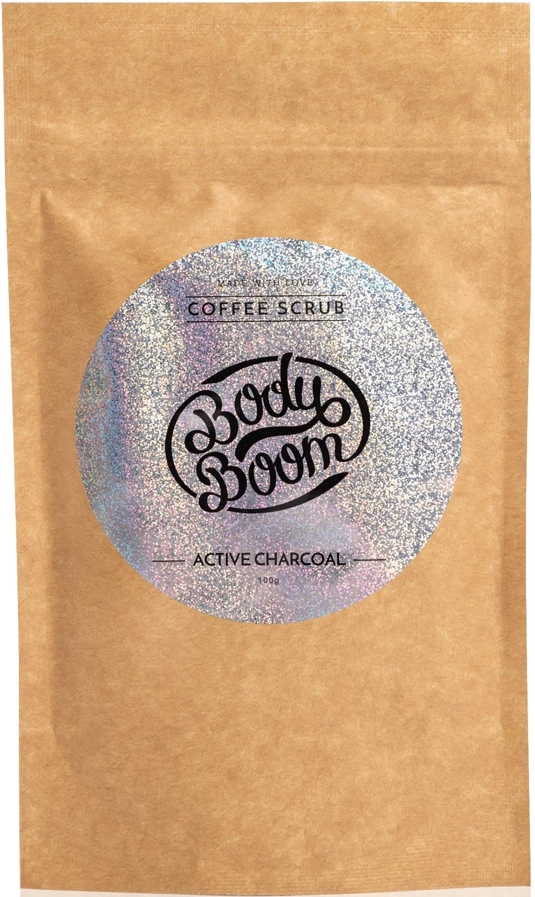 BODY BOOM Кофейный скраб для тела Active charcoal 100г