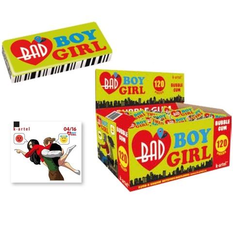 10x120 «Bad boy. Bad girl». Резинка жевательная недражированная1кор*10бл*120шт