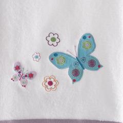 Полотенце детское 30х46 Kassatex Butterflies белое