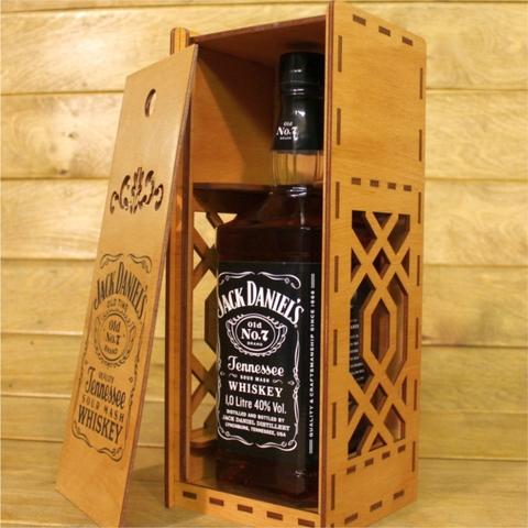 Коробка из фанеры для алкоголя JackDaniels 1 л