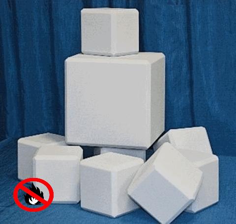 негорючие акустические декоративные элементы кубики