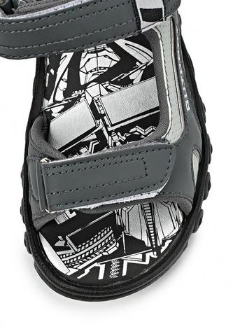Сандалии Трансформеры (Transformers) на липучках для мальчиков, цвет серый. Изображение 6 из 7.