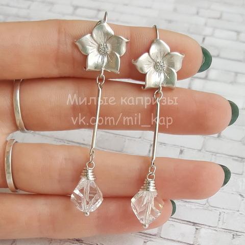 5020 Бусина Helix Сваровски Crystal 10 мм (Серьги с цветком. Пример)