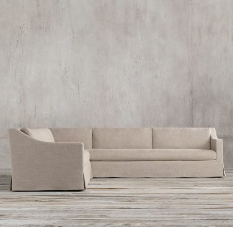 Belgian Classic Slope Arm Slipcovered Left-Arm L-Sectional