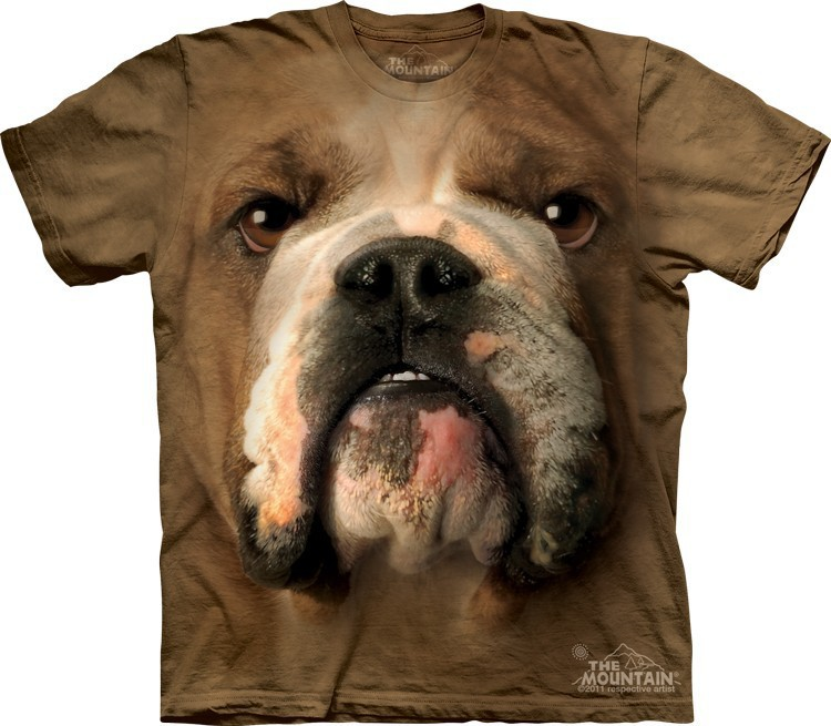 Футболка Mountain с изображением бульдога - Bulldog Face