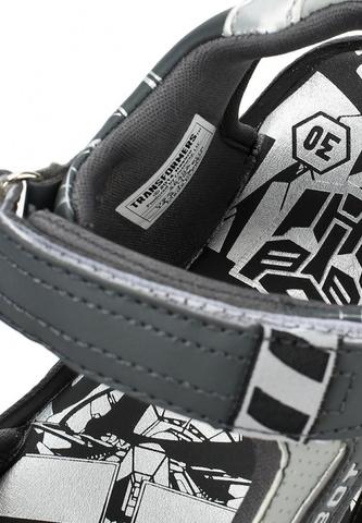 Сандалии Трансформеры (Transformers) на липучках для мальчиков, цвет серый. Изображение 7 из 7.