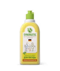 Жидкость для мытья посуды, SYNERGETIC, лимон, 500 мл.