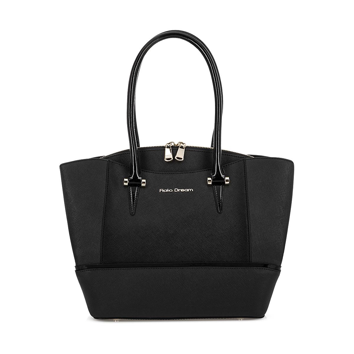 6007 FD саффиано /лак черный (сумка женская)