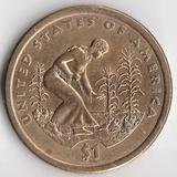 K6141, 2009, США, 1 доллар D Сакагавея Индианка Три сестры