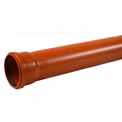 Труба для наружной канализации СИНИКОН UNIVERSAL - D110x3.4 мм, длина 1000 мм (цвет оранжевый)