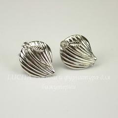 Пуссеты - гвоздики с 2 штырьками 18х15 мм (цвет - никель)(без заглушек)