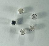 Кримп круглый, 2 мм, посеребренный, 10 шт.