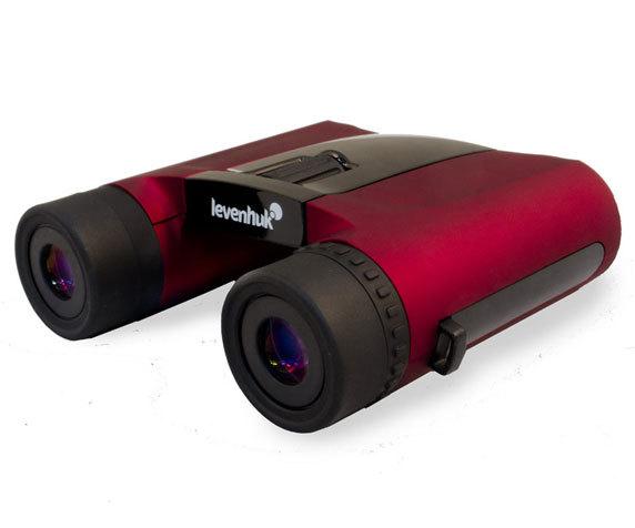 Мягкие резиновые наглазники Levenhuk Rainbow 8x 25 Red