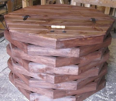 Основание под колодезный домик + крышка деревянная