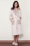 Женский халат с отделкой тканью букле B&B