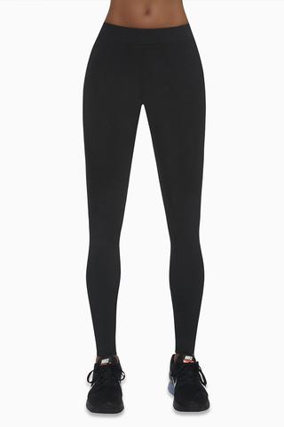 Черные легинсы для фитнеса 200 den с цветными вставками