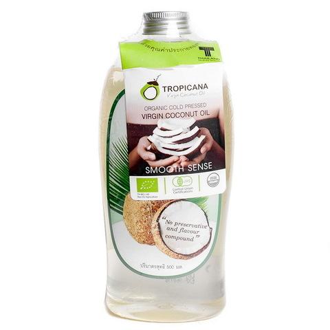Нерафинированное 100% кокосовое масло Тропикана холодного отжима, 500 мл