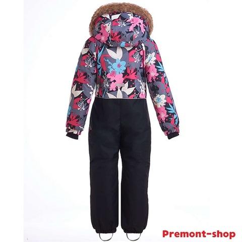 Комбинезон для девочек Premont Сад под снегом WP91171 GREY