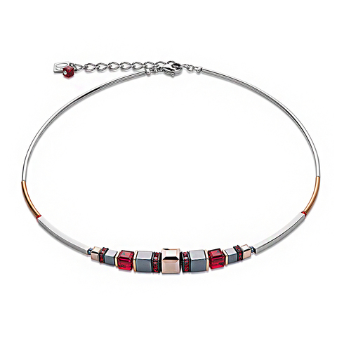 Колье Coeur de Lion 4851/10-0300 цвет серый, красный