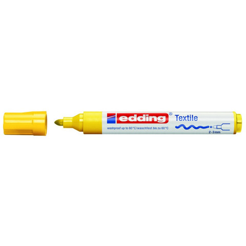 Маркер для текстиля Edding E-4500, жёлтый_005