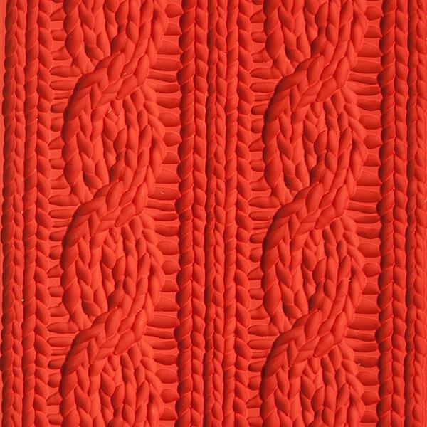 Текстурный лист для мыла Вязаный орнамент
