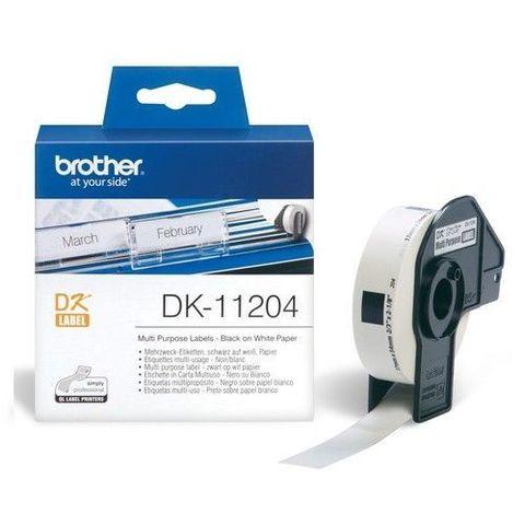 Универсальные наклейки Brother DK-11204 (17 x 54 мм) 400 шт