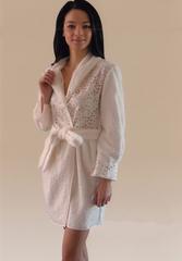 Элитный халат махровый Gheri белый от Timas