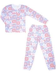 641-1 пижама детская, бело-синяя