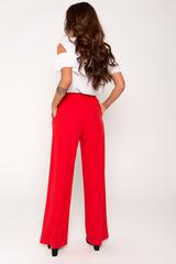 Шикарные брюки из легкой ткани , удобной посадки с карманами. Талия на резинке с эффектным бантом..Длина по боковому шву 44р=110см. 46р=111см. 48р=112см. 50р=113см.