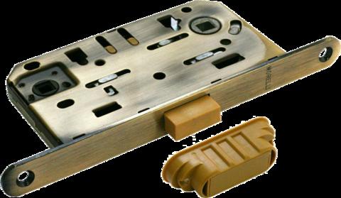 Фурнитура - Замок Сантехнический магнитный Morelli М1895 AB, цвет бронза сталь + многослойное гальваническое покрытие