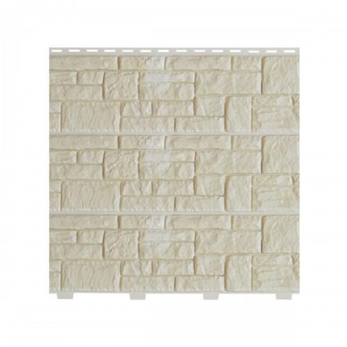 Фасадные панели (Цокольный Сайдинг) Доломит Крымский Берег Слоновая кость