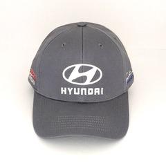 Кепка с вышитым логотипом Хендай (Кепка Hyundai) серая