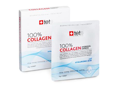 Гидроколлагеновая маска моментального действия, упаковка (4 штуки) / TETe 100% Collagene Hydrogel Mask