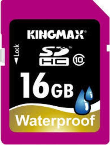 Карта памяти Kingmax SDHC 16 Gb Class 10 Waterproof