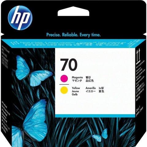 Печатающая головка №70 для HP DesignJet Z2100/Z3100/Z3200 пурпурный и желтый (C9406A)