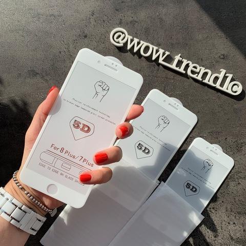 Стекло защитное 5D iPhone 6/6S Plus /white/