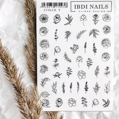 Stiker наклейка ibdi nails 05