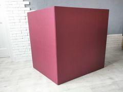 Коробка для шаров (бордовая) 60*80*80 см.