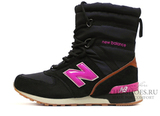 Сапоги Зимние Женские New Balance Black Pink С Мехом