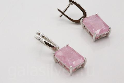 Серьги с нано кристаллом из серебра 925