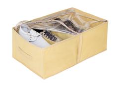 Кофр для обуви 34х48х20 см, 4 ячейки, Sand