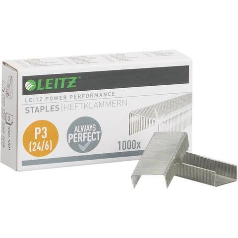 Скобы для степлера № 24/6 LEITZ, никелированные 1000 шт в упаковке