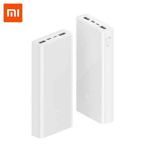 Power Bank Xiaomi Mi Power 3, 2xUSB, 20000mAh, 18W, QC2.0 white (PLM18ZM) (VXN4258CN)