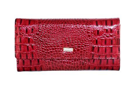 Кошелёк бордовый женский Coscet нат.кожа CS21-301D