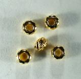 Кримп круглый рифленый, 2,5 мм, позолоченный, 10 шт.