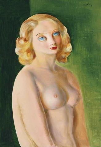Моисей Кислинг. 1930. Торс обнаженной (Naked Torso). 55.2 х 38.1. Холст, масло. Частное собрание.