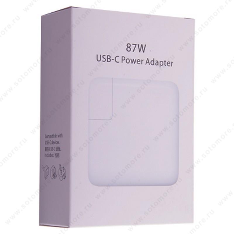 Сетевая зарядка для ноутбука Apple MacBook USB-C 87W Power Adapter маленькая коробка
