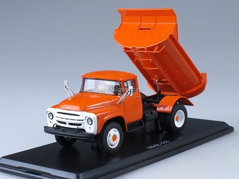 ZIL-MMZ-555 tipper early grille Autoexport 1974 Start Scale Models (SSM) 1:43