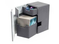 Ultimate Guard - Кожаная серая коробочка с отделением для кубиков на 100+ карт